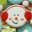 Snowman with Earmuffs Cookie