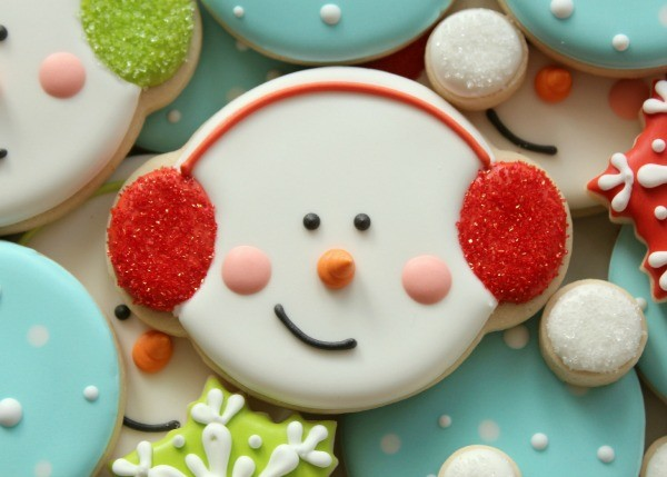 Snowman Cookies With Earmuffs The Sweet Adventures Of Sugar Belle