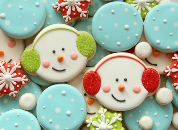 Winter Snowman Cookies