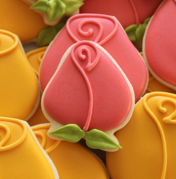 Rosebud Cookie