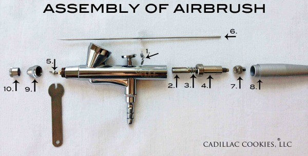 Airbrush Assembly and Parts