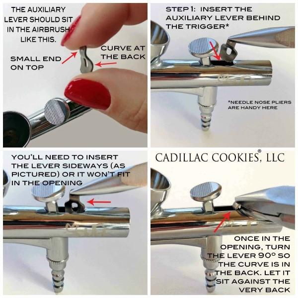 Assembling an airbrush gun