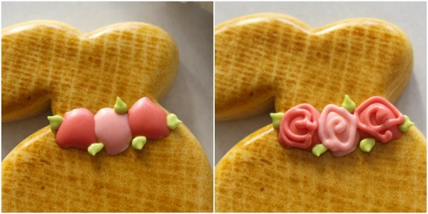 Bunny Cookies with Floral Wreath