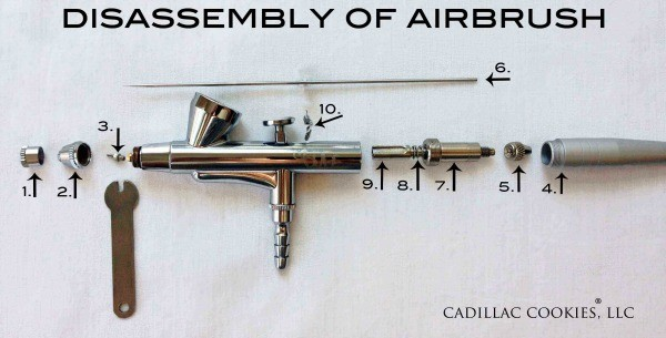 How to disassemble an airbrush