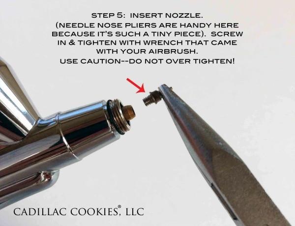 Reassembling Airbrush Nozzle
