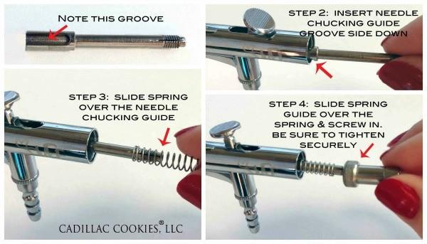 reassembling airbrush gun