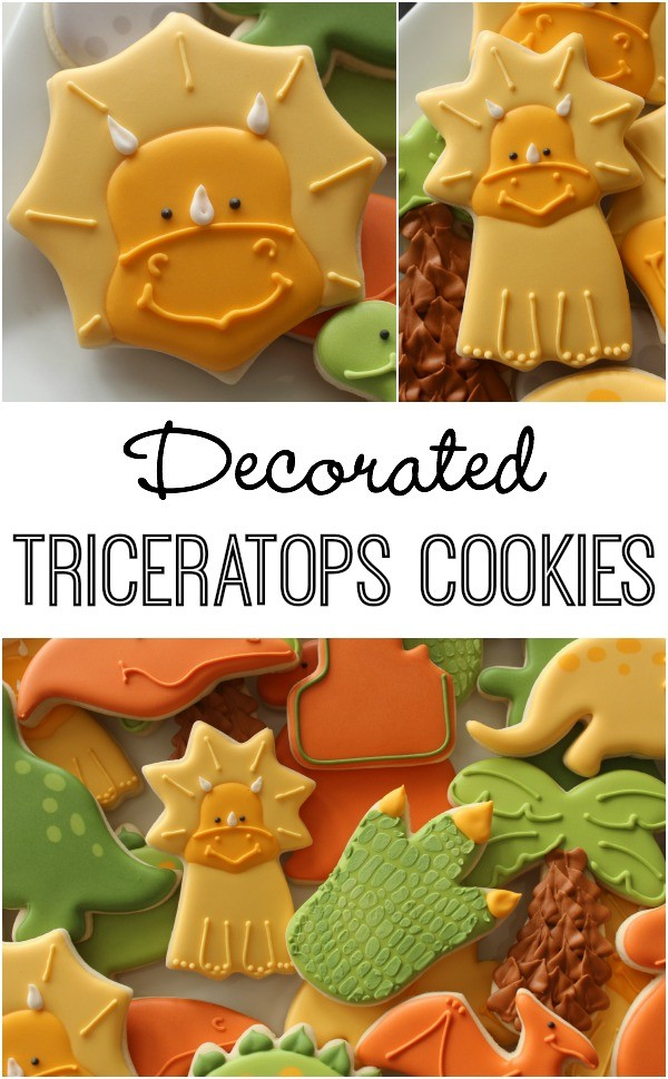 How to Decorate Triceratops Cookies