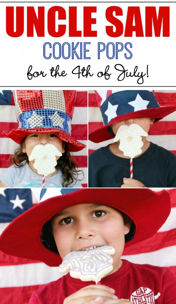 How to make Uncle Sam cookie pops for the fourth of July!