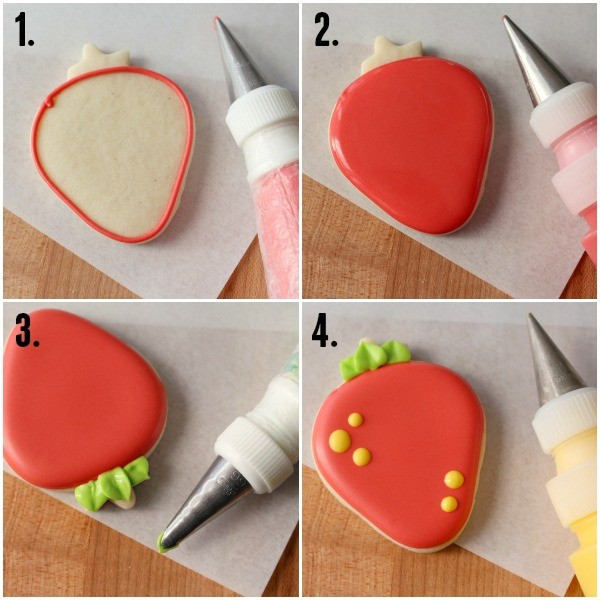 How to make decorated strawberry cookies in four easy steps!