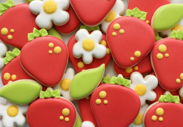 Summer Strawberry Cookies