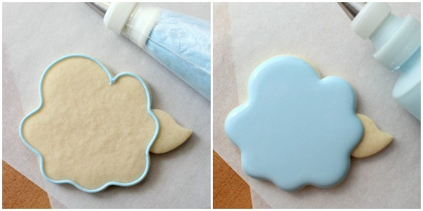 Decorated Hydrangea Flower Cookies