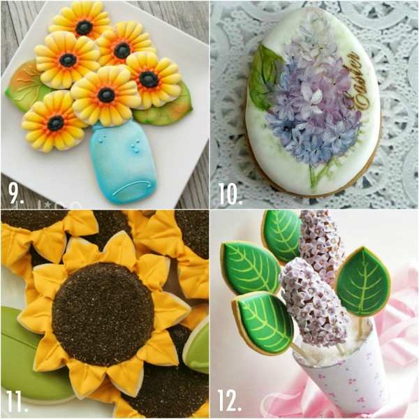 Decorated flower cookie ideas