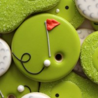 Easy Golf Cookies via Sweetsugarbelle.com