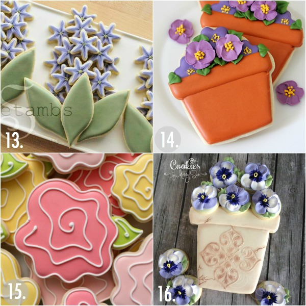 Twenty Decorated Flower Cookie Tutorials For Mother S Day The