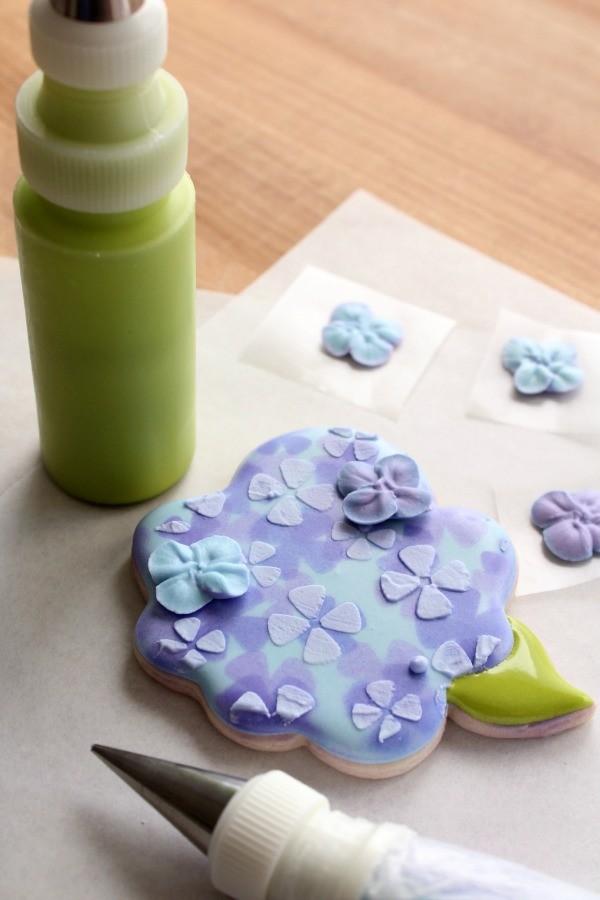 Hydrangea Flower Cookies