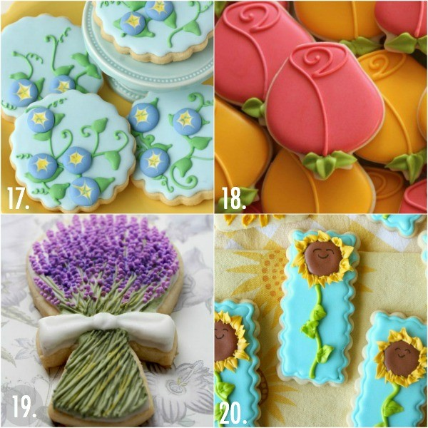 Twenty easy flower cookie ideas for Mother's Day