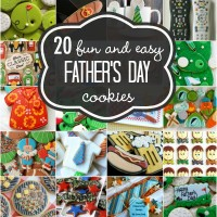 20 Fun and Simple Decorated Cookies for Father's Day via Sweetsugarbelle.com