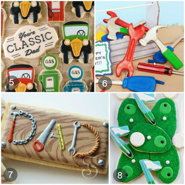 Cookie ideas for Father's Day via www.sweetsugarbelle.com
