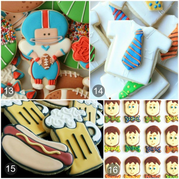 Fun and Easy Cookie ideas for Father's Day via Sweetsugarbelle.com