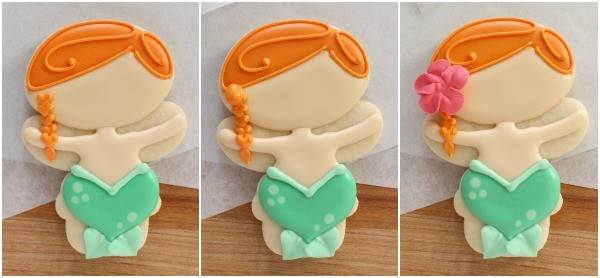 How To Make Mermaid Cookies With A Snowman Cutter The