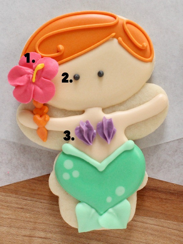 How to make Little Mermaid Cookies with a Snowman Cutter