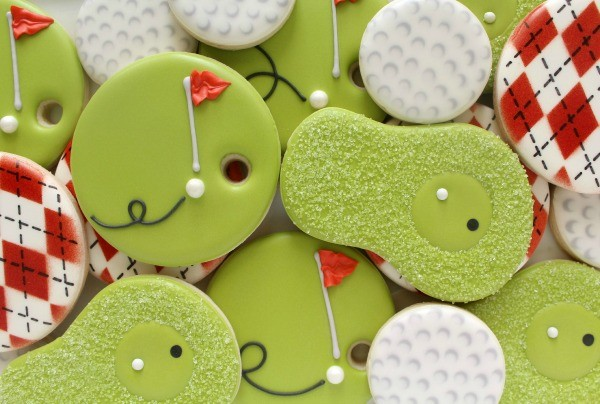 Simple Putting Green Cookies via Sweetsugarbelle.com