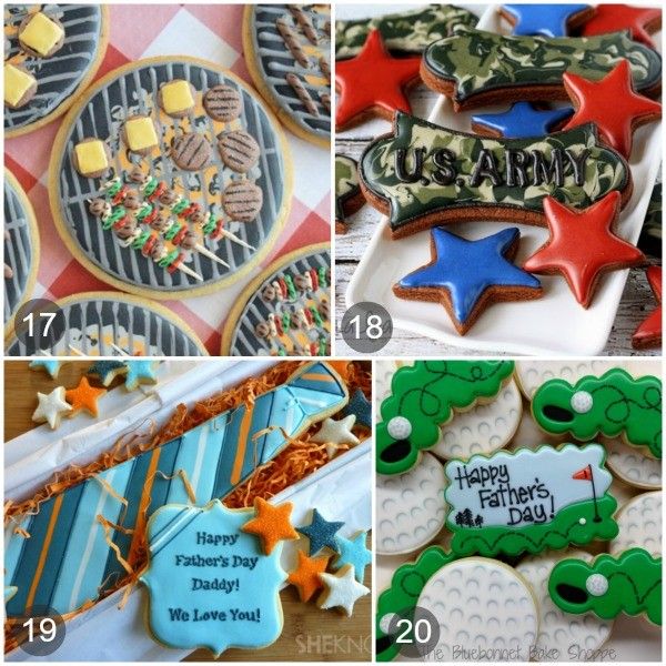 Twenty Cookie ideas for Father's Day via Sweetsugarbelle.com