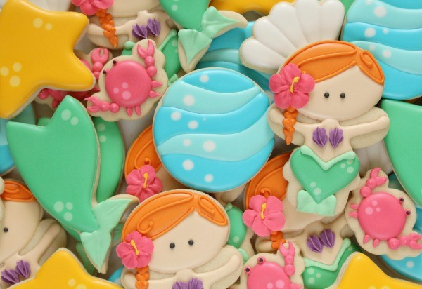 Under the sea mermaid cookies via Sweetsugarbelle.com