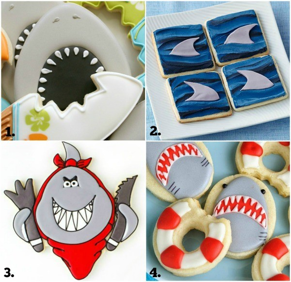 Shark Week Cookie Collage 1