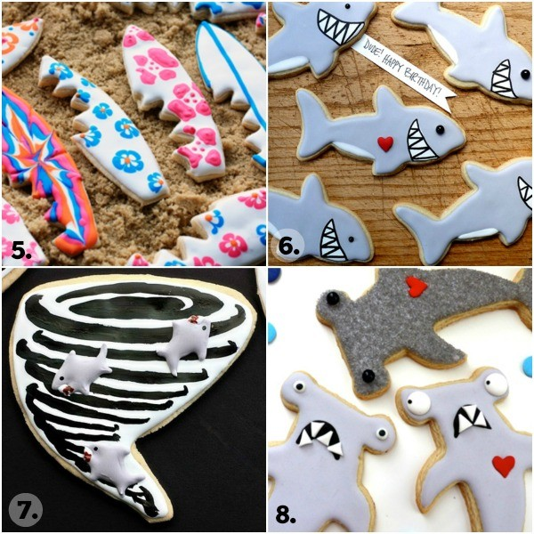 Shark Week Cookie Collage 2