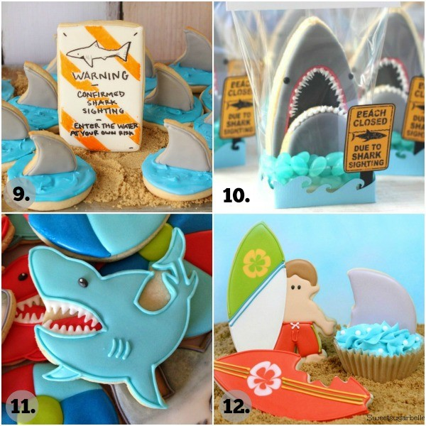 Shark Week Cookie Collage 3