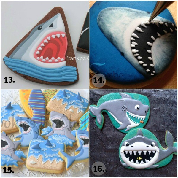 Shark Week Cookie Collage 4