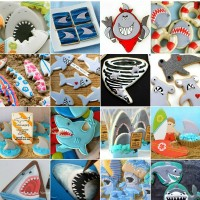 Twenty fun and frightening (not really) shark cookie ideas for Shark Week via Sweetsugarbelle.com
