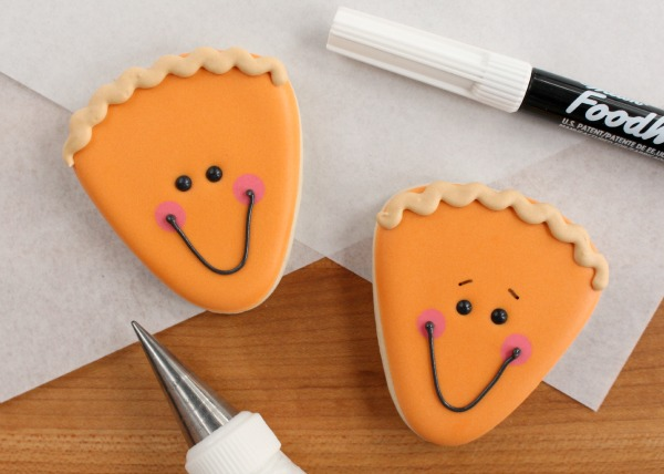 Silly Pie Slice Cookies for Thanksgiving via Sweetsugarbelle.com