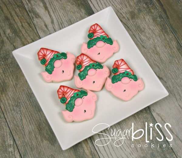 Adorable Elf Cookie tutorial with SugarBliss Cookies via Sweet Sugarbelle blog