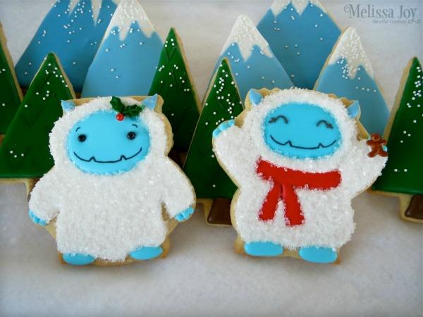 Adorable Yeti Cookies via Sweet Sugarbelle blog