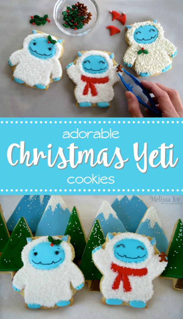 Adorable Christmas Yeti Cookies With Melissa Joy Fanciful Cookies