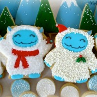Adorable decorated Yeti Cookies by Melissa Joy, guest post Sweetsugarbelle blog