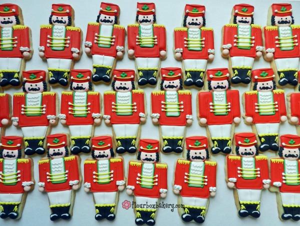 Christmas Nutcracker Cookies by Flour Box Bakery via Sweetsugarbelle.com