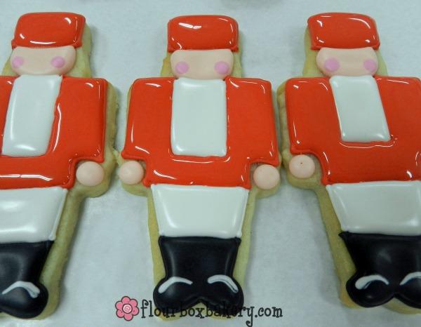 Flour Box Bakery Nutcracker Cookies via Sweetsugarbelle.com