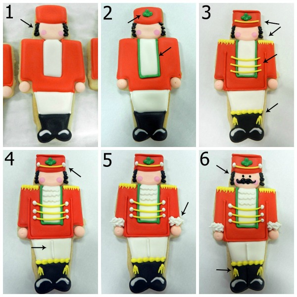 Flour Box Bakery Traditional Nutcracker Cookies via Sweetsugarbelle.com