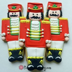 How to make Christmas nutcracker cookies with Flour Box bakery via Sweetsugarbelle.com