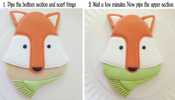 How to make adorable woodland fox cookies with Clough'd 9 Cookies via Sweetsugarbelle.com