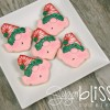 How to make elf cookies with SugarBliss Cookies via Sweetsugarbelle.com