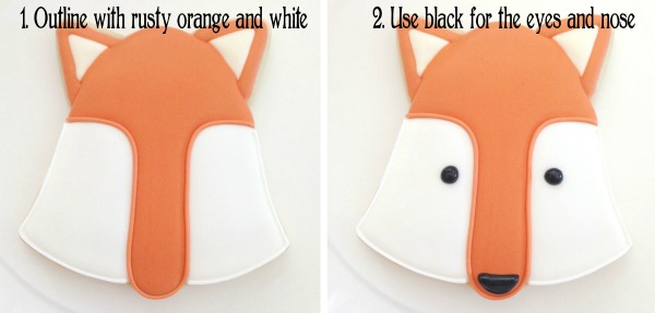 How to make fox cookies with Clough'd 9 Cookies via Sweetsugarbelle.com