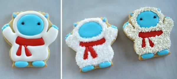 How to make fun winter Yeti Cookies with Melissa Joy via Sweetsugarbelle blog