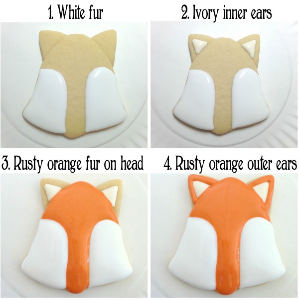 How to make simple woodland fox cookies with Clough'd 9 Cookies via Sweetsugarbelle.com