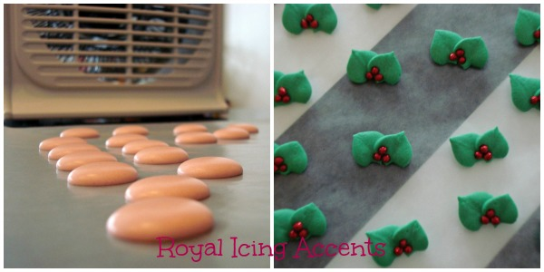 Royal Icing Accents for Elf Cookies