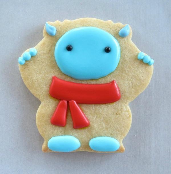 Sweet decorated Yeti Cookie
