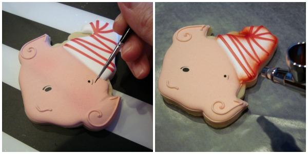 Sweet elf cookies with SugarBliss Cookies via Sweetsugarbelle.com
